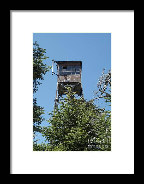 Firetower Framed Print featuring the photograph Appalachian Trail - Smarts Mountain New Hampshire Usa by Erin Paul Donovan