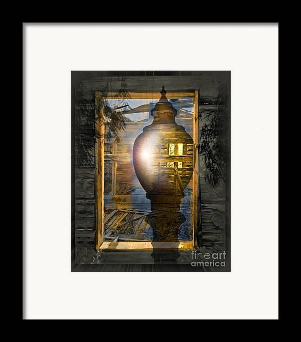 Ghost Framed Print featuring the digital art Apparition by Chuck Brittenham