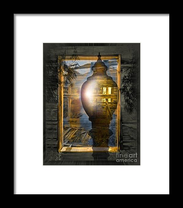 Ghost Framed Print featuring the digital art Apparition by Chuck Brittenham