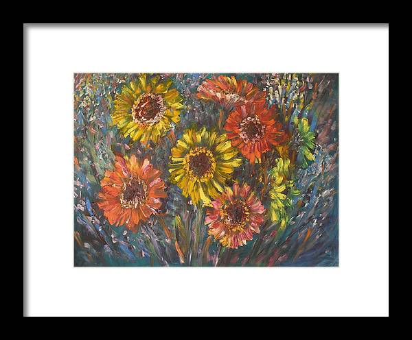 Daisy Framed Print featuring the painting Applause by Wendy Chua