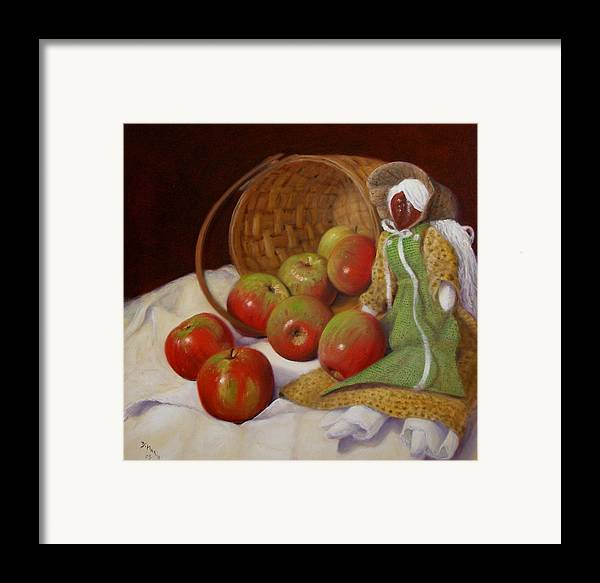 Realism Framed Print featuring the painting Apple Annie by Donelli DiMaria
