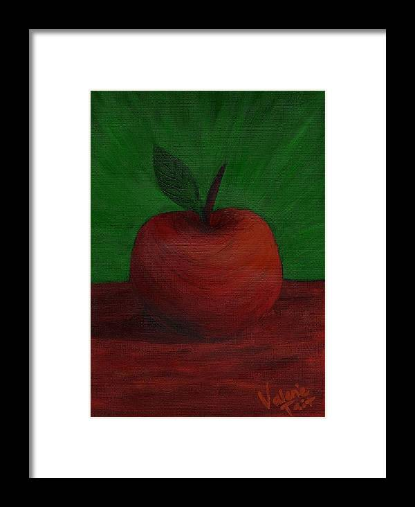 Apple Framed Print featuring the painting Apple Of My Eye by Valerie Tait