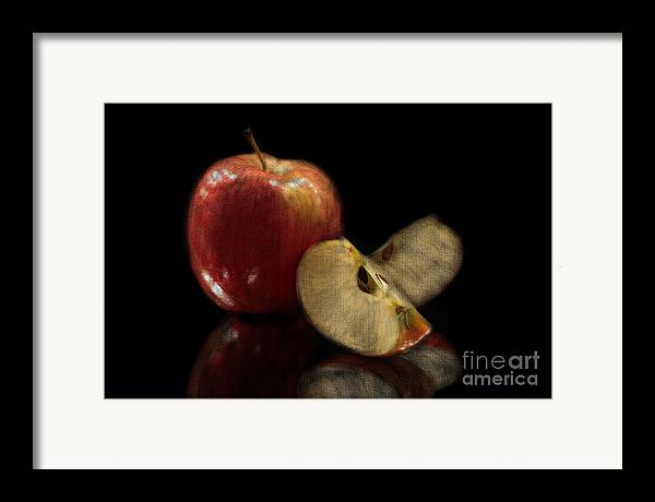 Apple Framed Print featuring the photograph Apple Still Life by Jeannie Burleson