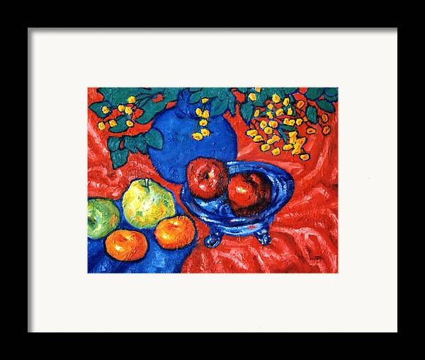 Still Life Framed Print featuring the painting Apples And Pears by Paul Herman