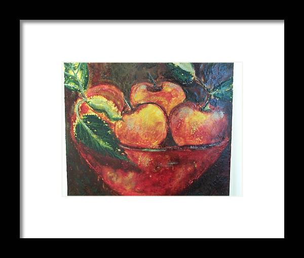 Still Life Framed Print featuring the painting Apples by Karla Phlypo-Price