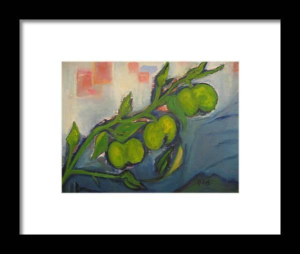 Maria Kolucheva Framed Print featuring the painting Apples by Maria Kolucheva