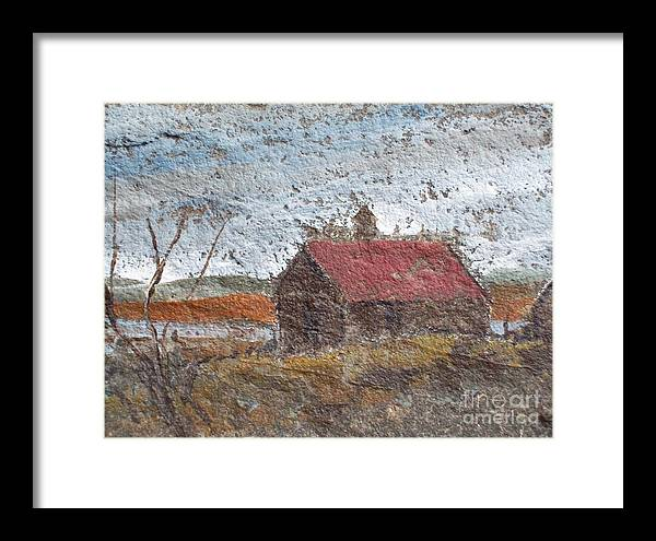 Storm. Clouds Framed Print featuring the painting Approaching Storm by Norman F Jackson