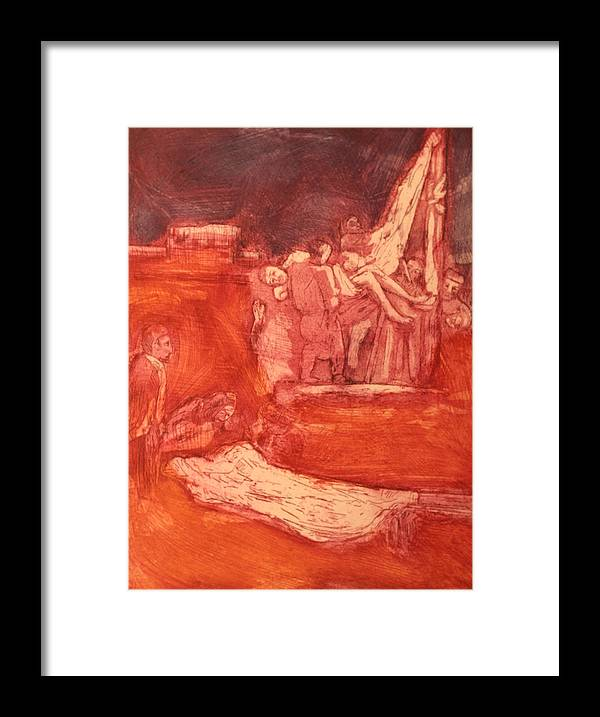 Religious Framed Print featuring the painting Apres rembrandt by Biagio Civale