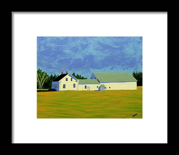 Maine Framed Print featuring the painting April Afternoon Route 17 by Laurie Breton