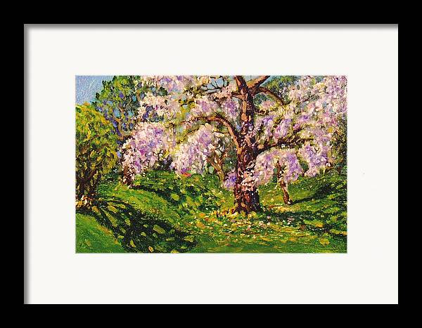 Scenic Framed Print featuring the painting April Dream by Jonathan Carter