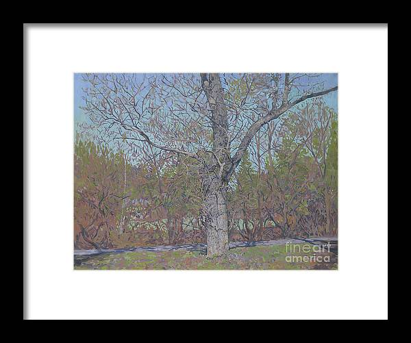 April Framed Print featuring the painting April by Simon Kozhin