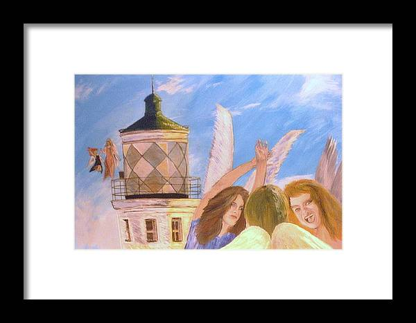 Look April Framed Print featuring the painting Aprils Flying by J Bauer