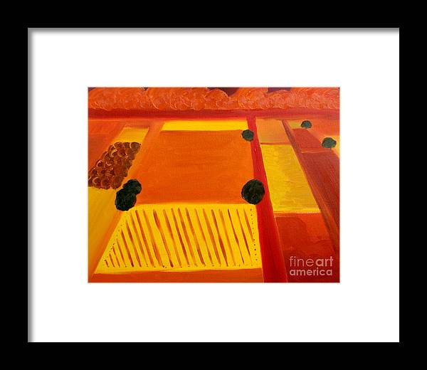 Abstract Framed Print featuring the painting Aproaching Storm - Sold by Paul Anderson