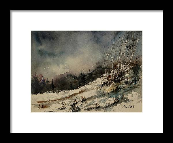 Winter Framed Print featuring the painting Aqua 051207 by Pol Ledent