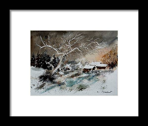 Winter Framed Print featuring the painting Aqua 290108 by Pol Ledent