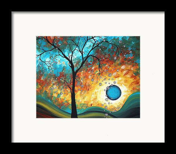 Art Framed Print featuring the painting Aqua Burn By Madart by Megan Duncanson