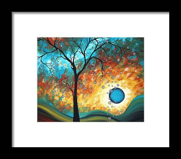 Art Framed Print featuring the painting Aqua Burn By Madart by Megan Duncanson