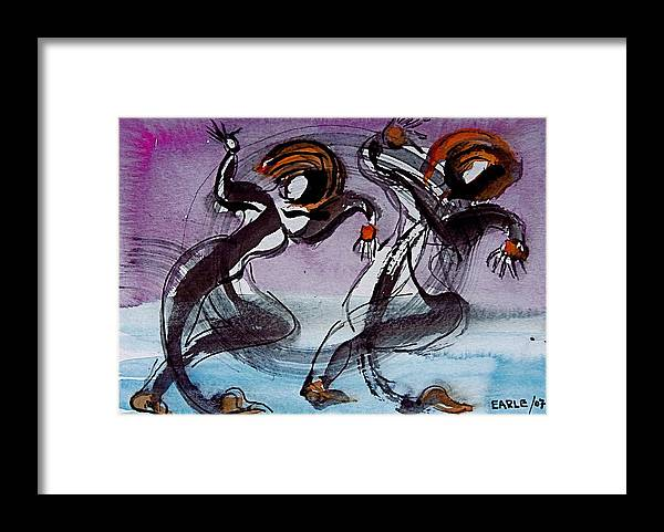 Whimsical Framed Print featuring the painting Aquatic Dancers by Dan Earle