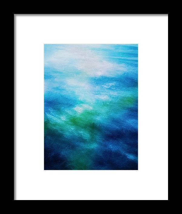 Ocean Framed Print featuring the digital art Aquatic Healing Overture by Don DePaola