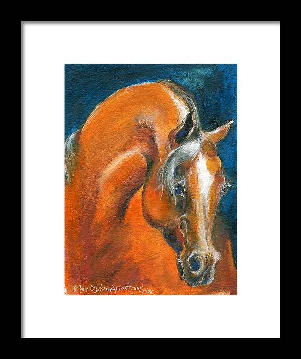 Arabian Framed Print featuring the painting Arabian 1 by Mary Armstrong