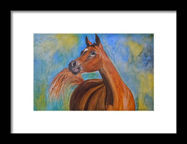 Horse Framed Print featuring the painting Arabian Beauty by Jean Blackmer