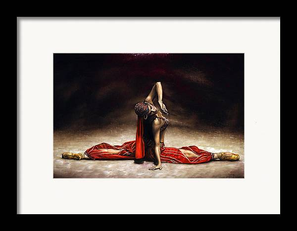 Ballerina Framed Print featuring the painting Arabian Coffee by Richard Young