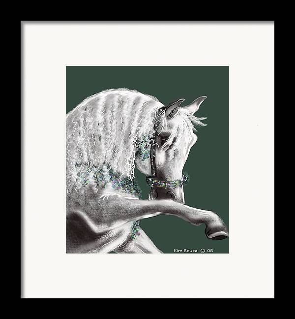 Arabian Framed Print featuring the painting Arabian by Kim Souza