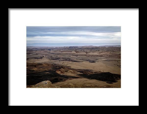 Nature Framed Print featuring the photograph Arava Valley, South Israel, Evening Twilight by Jan Pavlovski