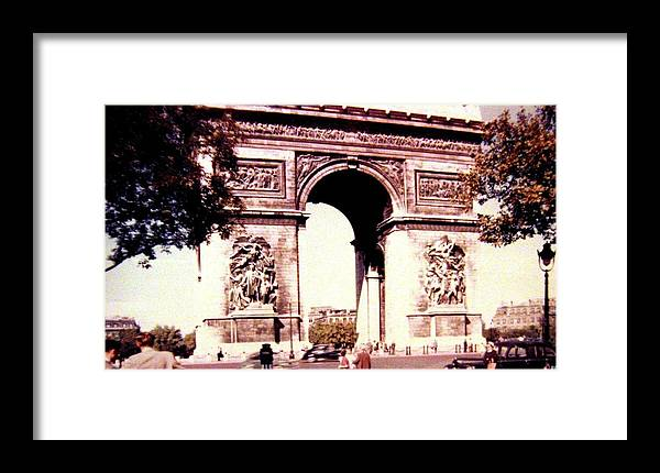 1955 Framed Print featuring the photograph Arc De Triomphe 1955 by Will Borden