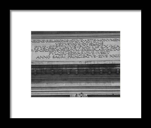 France Framed Print featuring the photograph Arc Text by Shelby Eagleburger