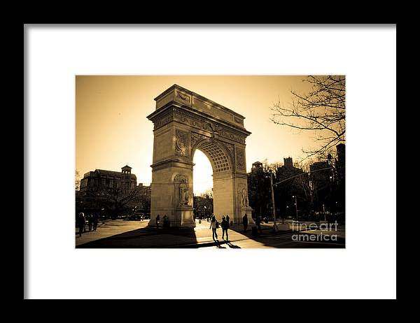 Washington Square Park Framed Print featuring the photograph Arch of Washington by Joshua Francia