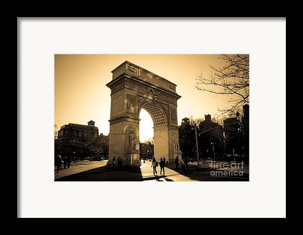 Washington Square Park Framed Print featuring the photograph Arch Of Washington by Joshua Francia