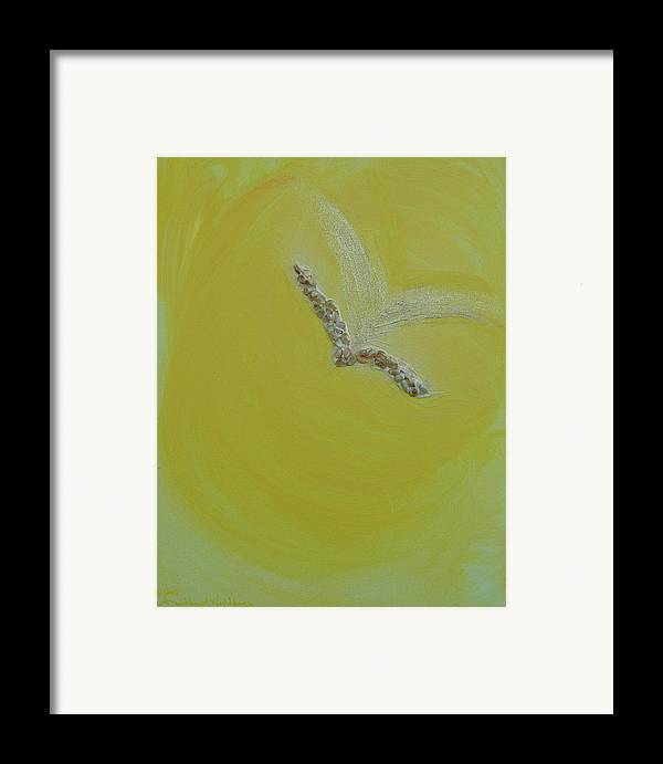Angels Framed Print featuring the painting Archangel Gabriel by Emerald GreenForest