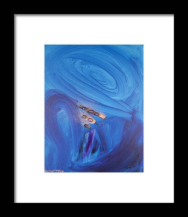 Angels Framed Print featuring the painting Archangel Jeremiel by Emerald GreenForest