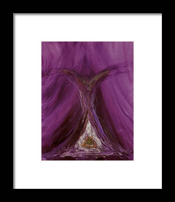 Angels Framed Print featuring the painting Archangel Metatron by Emerald GreenForest