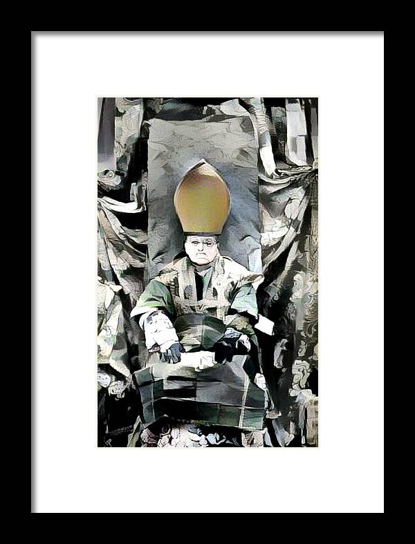 Cubist Framed Print featuring the mixed media Archbishop Guernica by Candee Lucas