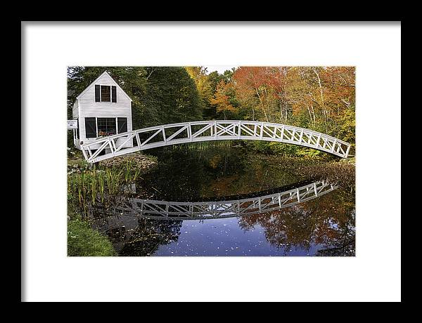 Arched Bridge Framed Print featuring the photograph Arched Bridge-somesville Maine by Expressive Landscapes Fine Art Photography by Thom