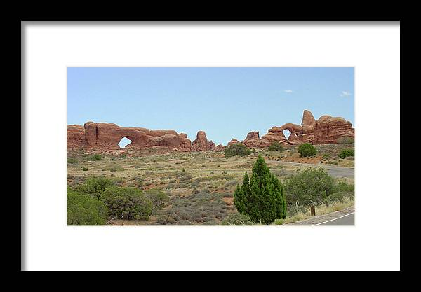 Arches National Park Framed Print featuring the photograph Arches National Park 21 by Dawn Amber Hood