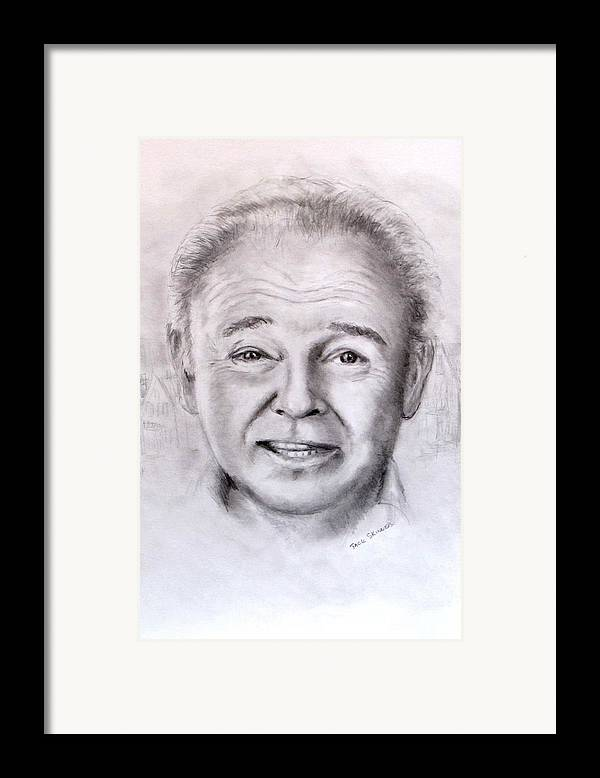 Archie Bunker Framed Print featuring the drawing Archie by Jack Skinner