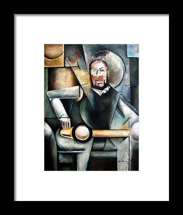 Ornette Coleman Jazz Saxophonist Cubism Framed Print featuring the painting Architect by Martel Chapman