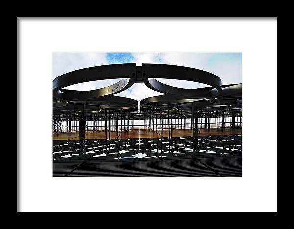 Architectural Framed Print featuring the photograph Architectural Detail Abstract by HazelPhoto