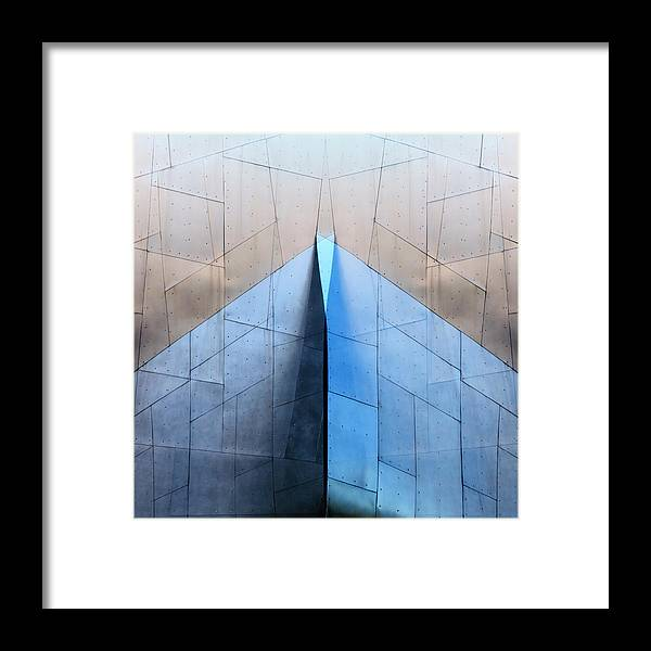 Architecture Framed Print featuring the photograph Architectural Reflections 4619L by Carol Leigh