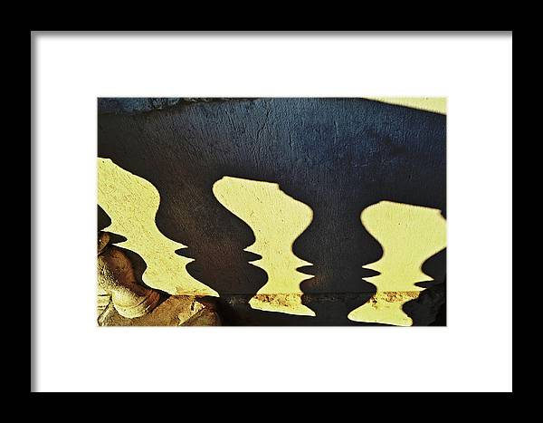 Architectural Framed Print featuring the photograph Architectural Shadows by HazelPhoto