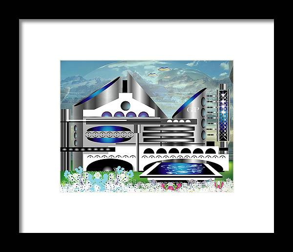 Architecture Framed Print featuring the digital art Architecture 1a by George Pasini