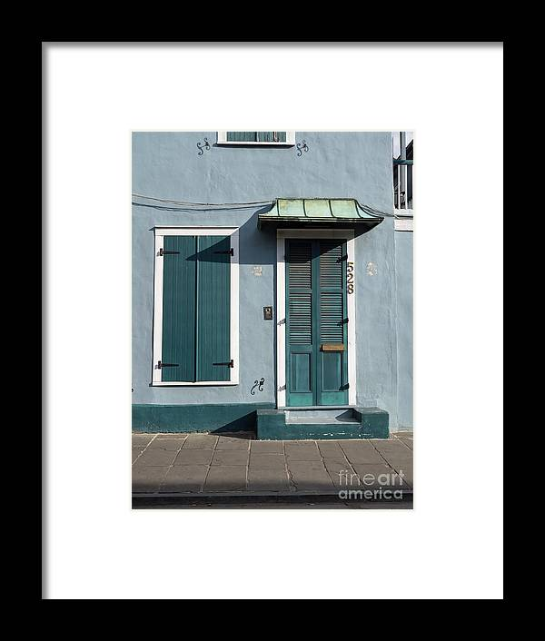 Wood Framed Print featuring the photograph Architecture Of The French Quarter In New Orleans by Louise Heusinkveld