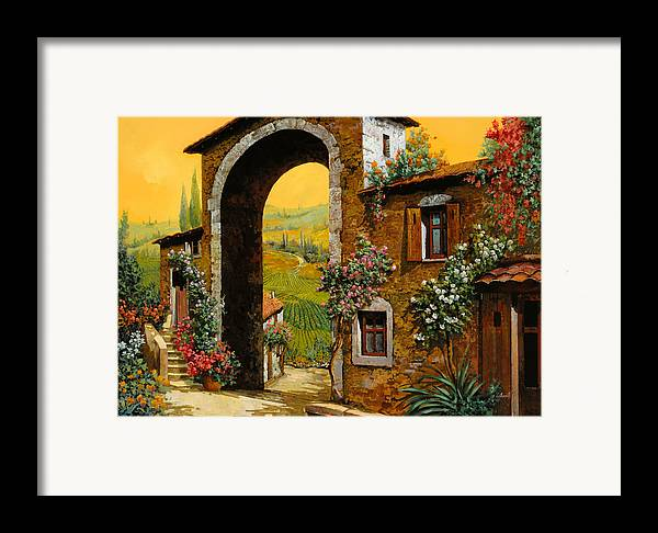 Arch Framed Print featuring the painting Arco Di Paese by Guido Borelli