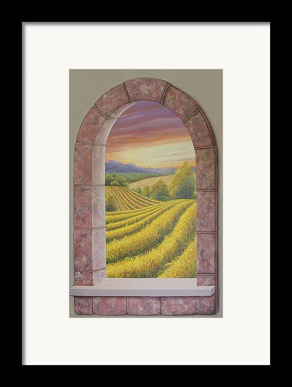 Realistic Framed Print featuring the painting Arco Vinal by Angel Ortiz