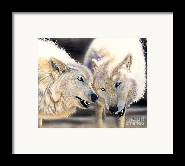 Acrylics Framed Print featuring the painting Arctic Pair by Sandi Baker
