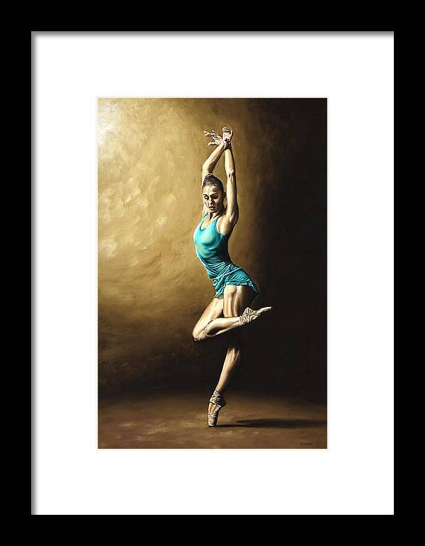 Dance Framed Print featuring the painting Ardent Dancer by Richard Young