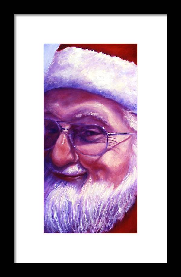 Portrait Framed Print featuring the painting Are You Sure You Have Been Nice by Shannon Grissom